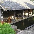 Lavoir dans le jardin médiéval